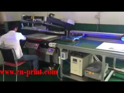 automatic screen printing machine,screen printer + LED UV + arm, screen printing UV varnish