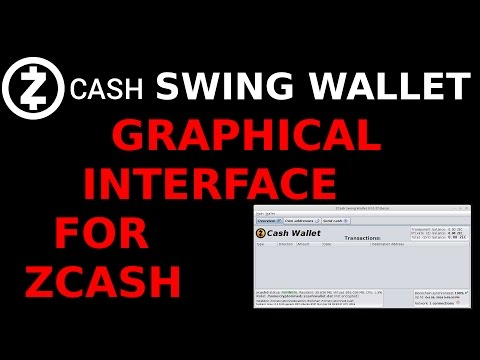 ZCash Swing Wallet Graphical User Interface Wallet Wrapper to Receive, Store, & Send ZEC