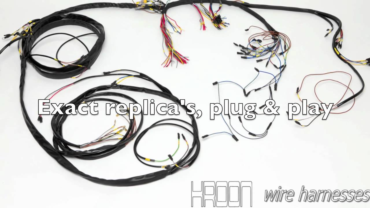 kroon wire harnesses youtube rh youtube com Ynz Wiring Harness Porsche 356 Wiring Harness