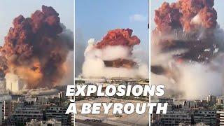 Beyrouth: Les images terrifiantes de la double explosion
