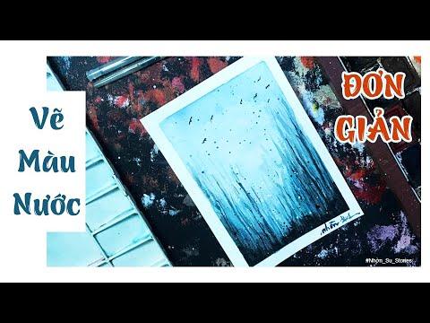PHONG CẢNH RỪNG ĐÔNG | Vẽ Tranh Màu Nước Đơn Giản | Nhờn Su Stories