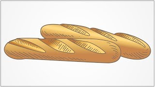 how to draw Loaf Bread step by step