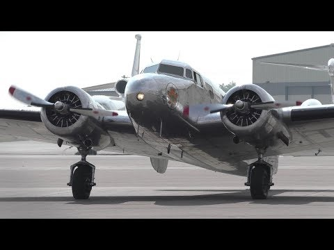 Trans-Canada Air Lines Lockheed 10A Electra [CF-TCC] Startup and Takeoff from Calgary Airport ᴴᴰ
