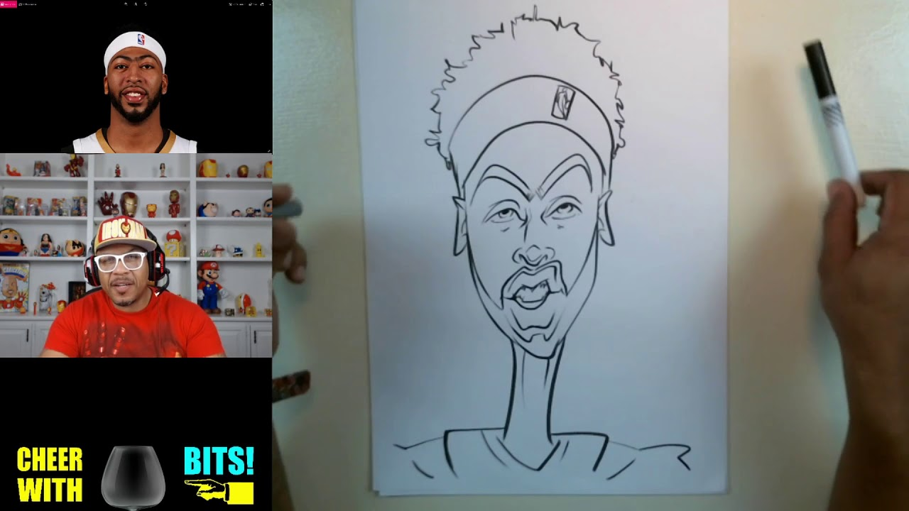 How To Draw A Caricature Anthony Davis