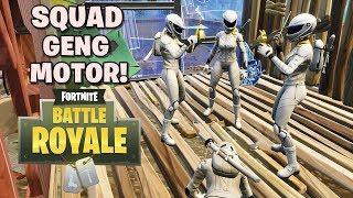 SQUAD GENG MOTOR! - Fortnite: Battle Royale (w/ Afif Yulistian - GemmaD)