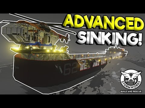 ADVANCED TANKER SHIP SINKING SHIP SURVIVAL! - Stormworks: Build And Rescue Gameplay Update