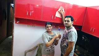 OUR KITCHEN CLEANING SESSION|| HUBBY IS VLOGGING||KITCHEN RENOVATION