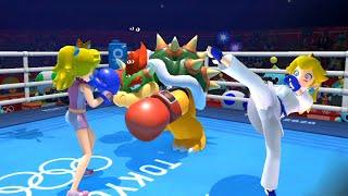 Mario & Sonic at the Tokyo 2020 Olympic Games Karate & Boxing - Peach Vs Bowser, Donkey Kong, Vector