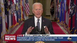 Presidential address: Watch Biden's full speech from March 11, 2021 | ABC7