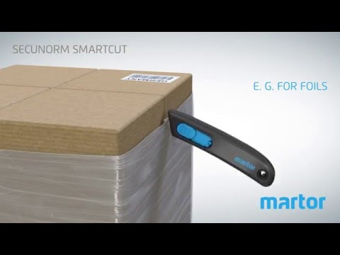Safety knife MARTOR SECUNORM SMARTCUT product video GB