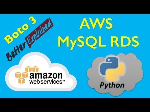 15 AWS Python Tutorial- Working with AWS RDS MySQL Database - YouTube