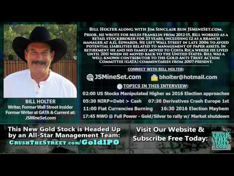 Derivatives Chain Breaking; Market Collapse Soon; 2016 Election Suspension   Bill Holter Interview