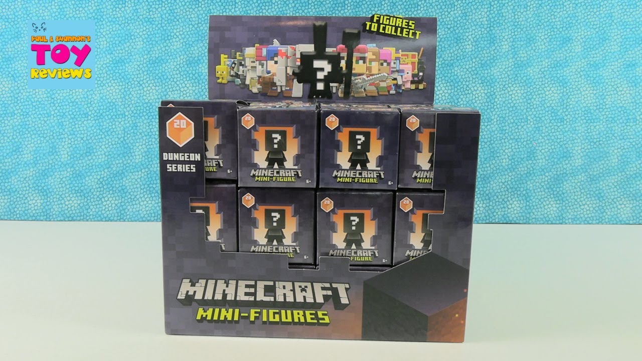 Minecraft Dungeon Series 20 Mini Figures Blind Box Opening Review   PSToyReviews