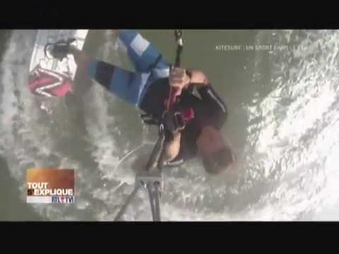Kitesurfing report on Belgium TV RTL-TVi