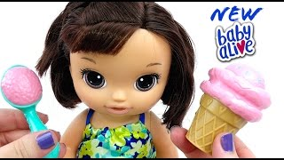 Baby Alive Magical Scoops Doll Box Opening and Feeding