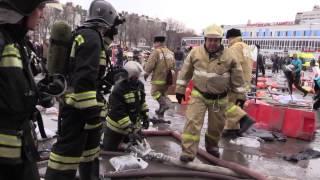 """Видео пожара в торговом центре """"Адмирал"""" (полностью)"""