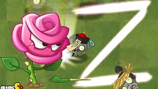 Plants Vs Zombies 2:  Rose Swordman Magic Shroom Challenge In Kung Fu World! (PVZ 2)
