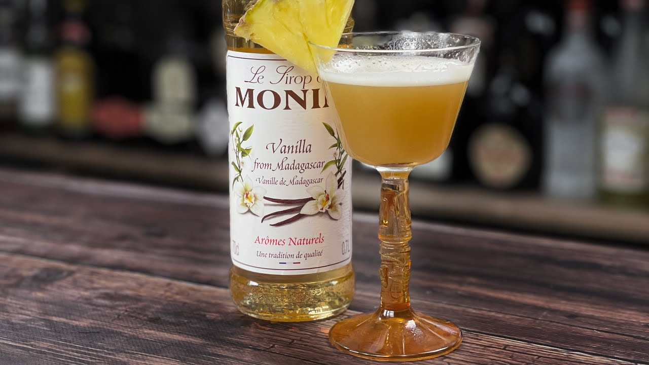 Cocktails with Vanilla Syrup - Quirky Vanilla Daiquiri Riff! (there's no Rum!)