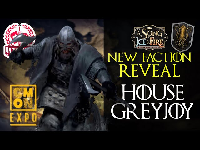 House Greyjoy CMON Expo 2020 Reveal for A Song of Ice and Fire Miniatures Game