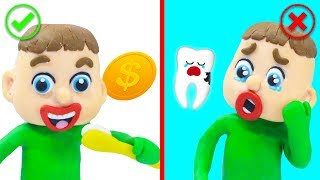 SUPERHERO BABY MAGICAL WISDOM TEETH 💖 Play Doh Cartoons For Kids