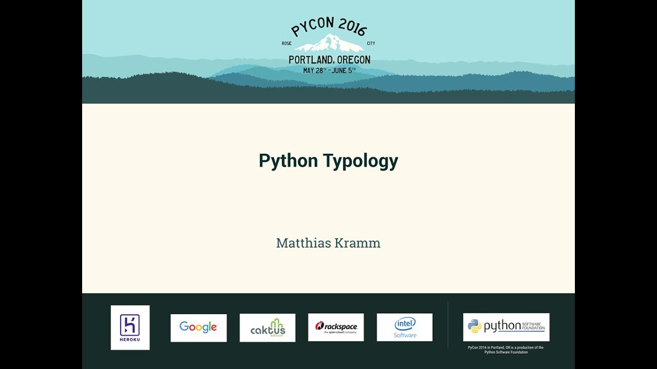 Image from Python Typology