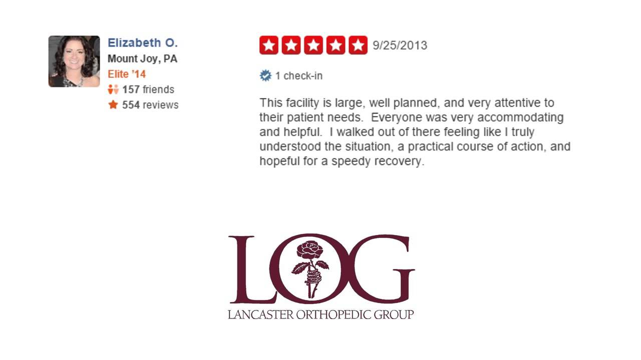 The Lancaster Orthopedic Group - REVIEWS - Lancaster (PA ...