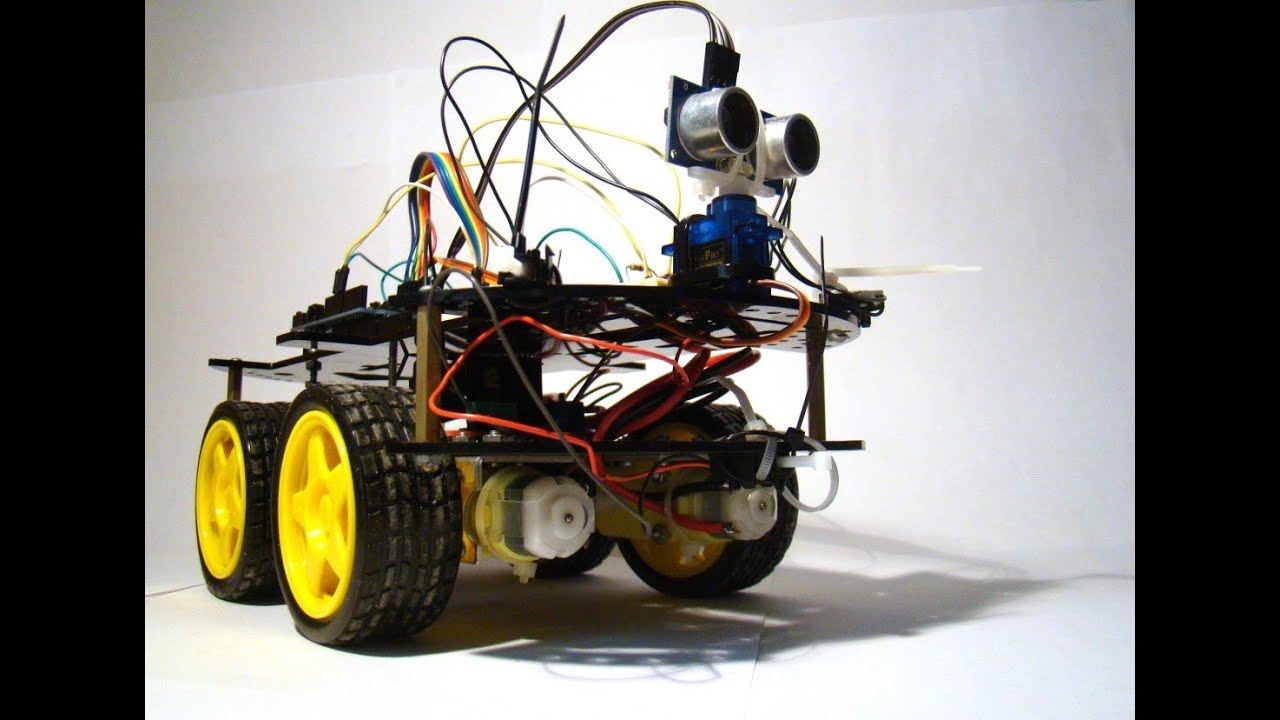 Carro ultrassom arduino youtube