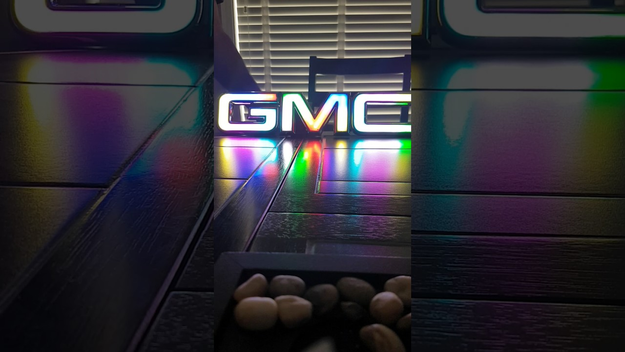 Plasti Dip Emblems >> Light up gmc emblem - YouTube
