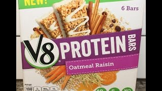 V8 Protein Bars: Oatmeal Raisin Review