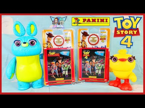 Ouverture 60 Stickers Cartes Toy Story 4 Panini Youtube