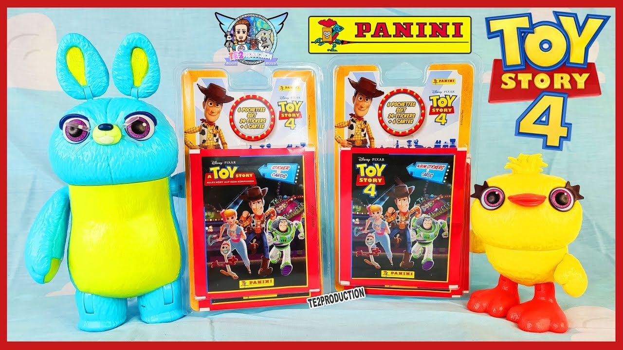 Ouverture 60 Stickers Cartes Toy Story 4 Panini