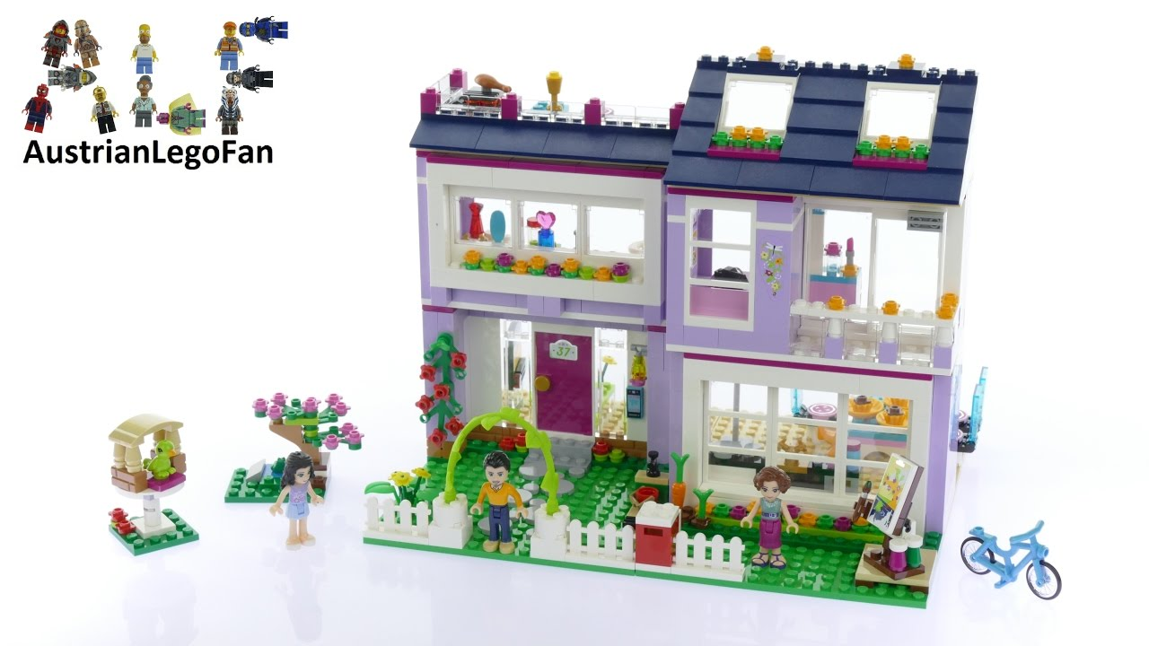 Lego Friends 41095 Emmas House Lego Speed Build Review Youtube