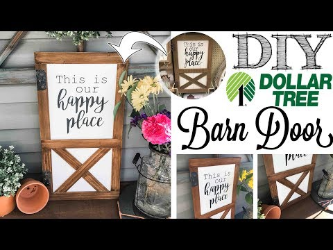 DIY Dollar Tree Barn Door | Hobby Lobby Dupe