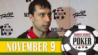 Andoni Larrabe fica em 6° no ME da WSOP 2014