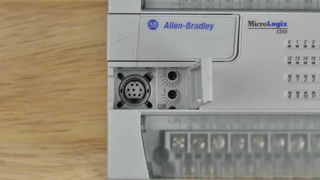 Allen Bradley Plc Training >> MicroLogix 1200 DCOMM & Trim Pots - YouTube