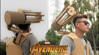 How to make War Machine (Iron Man in AVENGERS 3: Infinity War) from Cardboard