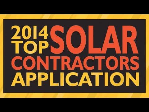 Solar Power World 2014 Top Solar Contractors Application
