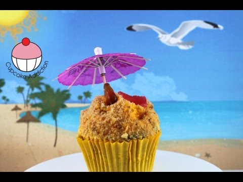 Beach Cupcakes! Decorate Tropical Beach Cupcakes - A Cupcake Addiction How To Tutorial
