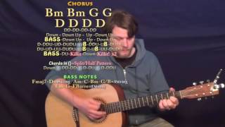 Kill A Word (Eric Church) Guitar Lesson Chord Chart in D Major - Bm D G A