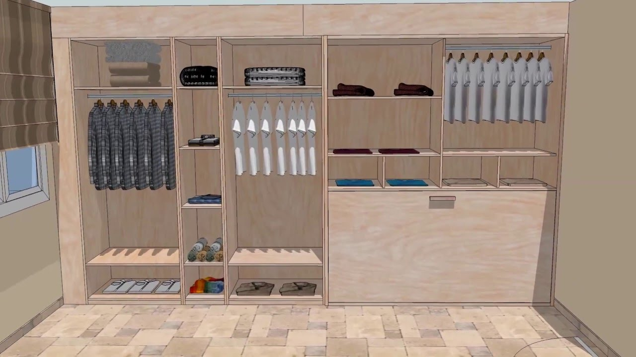 Amplio armario con cama plegable youtube - Cama armario plegable ...