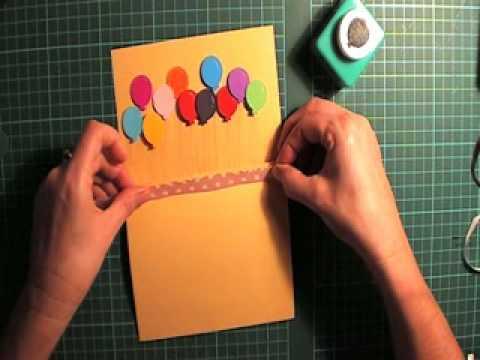 pop up Balloon card