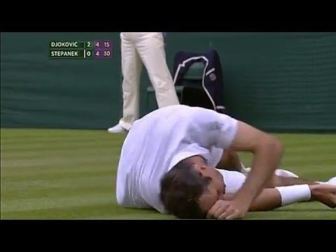 Djokovic v Stepanek: sensational rally - Wimbledon 2014
