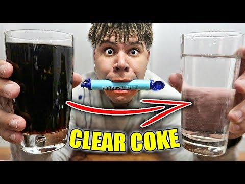 This Straw Turns ANY Liquid into Water!! *CLEAR COCA COLA*