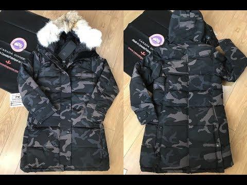 Black Camo Canada Goose --Shelburne Parka Black Label