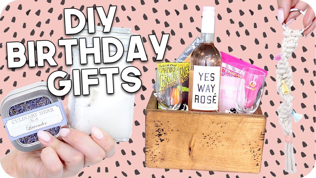 DIY Birthday Gifts 2018 Minimal Easy