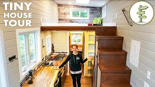 Super Bright & Spacious Tiny House is Just Perfect!
