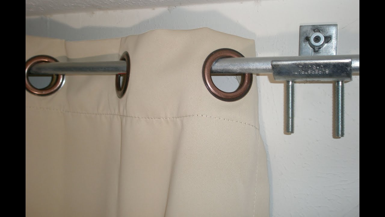 DIY Curtain rod & brackets / holders hack from electrical ...