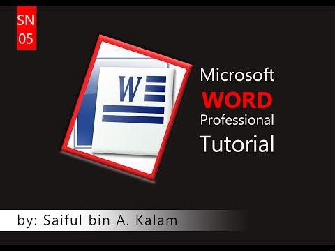 Microsoft Word 2010 Tutorial (Part 6) - Class: Delwoer bin Y. Mea