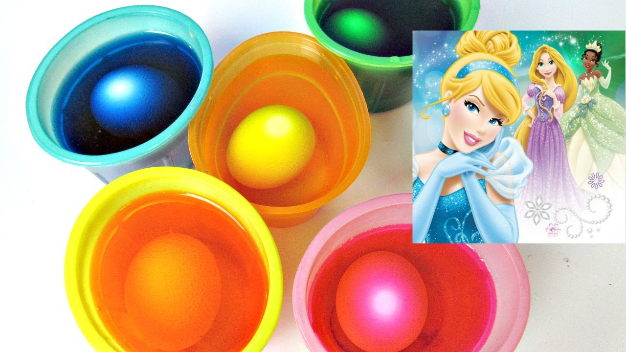 Coloring Easter Eggs Disney Princess Spiffy Toys Channel