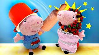 Свинка Пеппа, Джордж иПОДКРОВАТНЫЙ МОНСТР— Мягкие игрушки для детей ОДНИ ДОМА